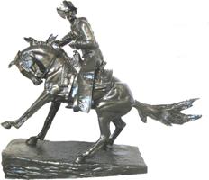 Bronze Remington Cowboy Statue - ASB 012