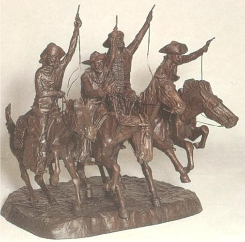 Bronze Remington Coming Through Rye Statue - ASB 014