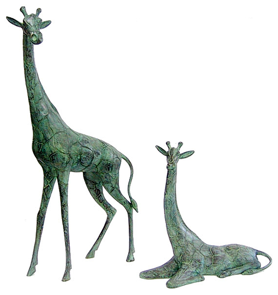 Bronze Giraffe, Calf Statues - DD 1068