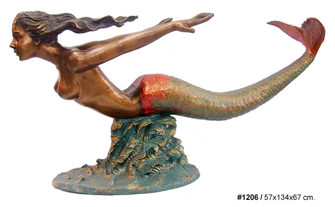 Bronze Mermaid Table - DD T-1206