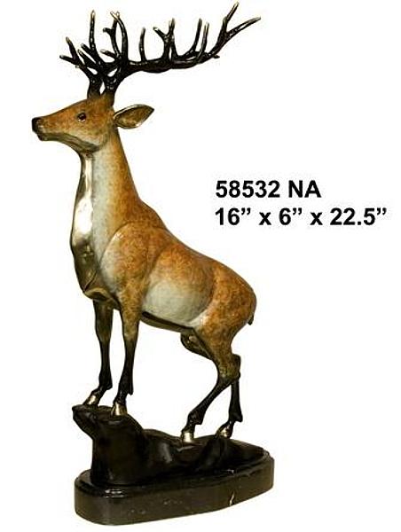 Bronze Deer Buck Statues - AF 16859NA