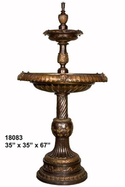 Bronze Column Tier Fountain - AF 18083