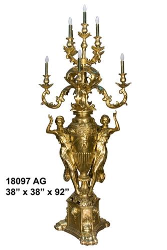 Bronze Ladies Torchieres - AF 18097AG