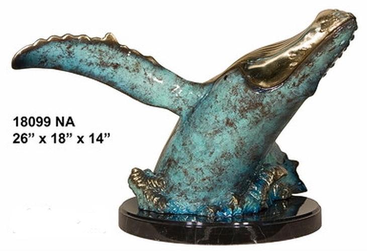 Bronze Humpback Whale Statue - AF 18099NAJ