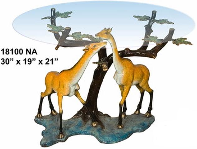 Bronze Giraffe Table Base - AF 18100NA
