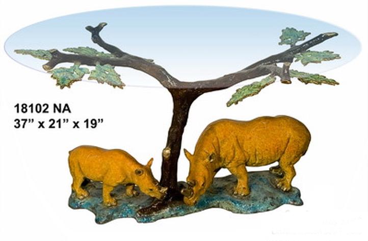 Bronze Rhinoceros Table - AF 18102NA