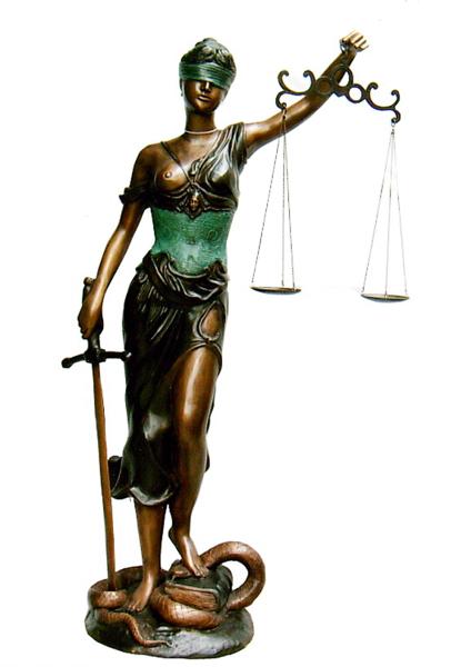 Bronze Scales of Liberty Statue - DK 1849