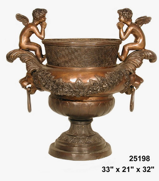 Bronze Cherubs Urn - AF 25198
