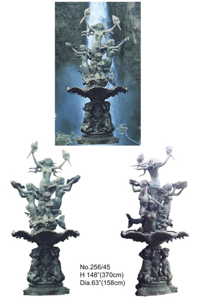 Bronze Mermaid Fountains | Bronze Mermaid Statues - BB 256-45