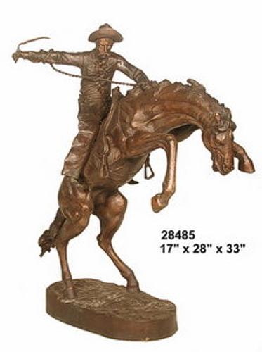 Bronze Bronco Buster Statue - AF 28485