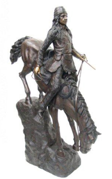 Bronze Mountain Man Statue - AF 28625