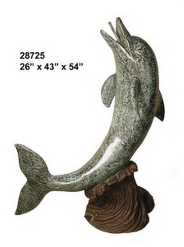 Bronze Dolphin Fountains - AF 28725