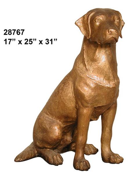 Bronze Dog Labador Retreiver Statue - AF 28767