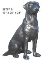 Bronze Dog Labador Retreiver Statue - AF 28767B