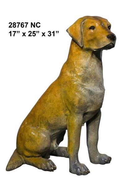 Bronze Dog Labador Retreiver Statue - AF 28767NC