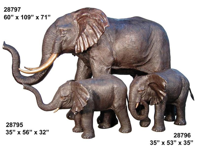 Bronze Elephant Statue - AF 28795-97