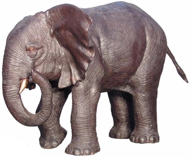 Bronze Elephant Statue - AF 28796