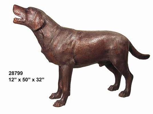 Bronze Labrador Retriever Statue - AF 28799