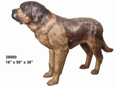 Bronze Dog St. Bernard Statue - AF 28800
