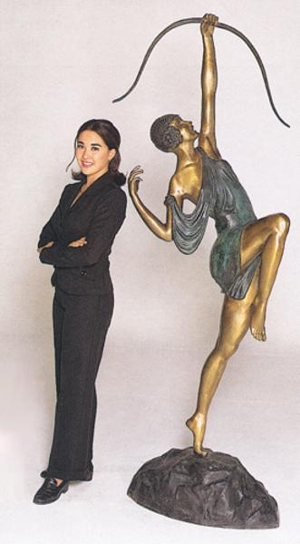 Bronze Diane the Archer Statue - ASB 289