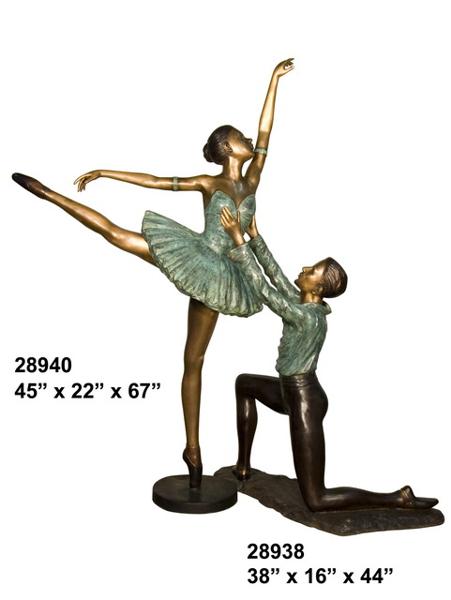 Bronze Ballerina Statue - AF 28938-40
