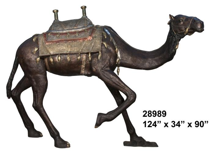 Bronze Camel Statue - AF 28989