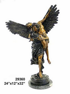 Bronze Men Wings Statues - AF 29360