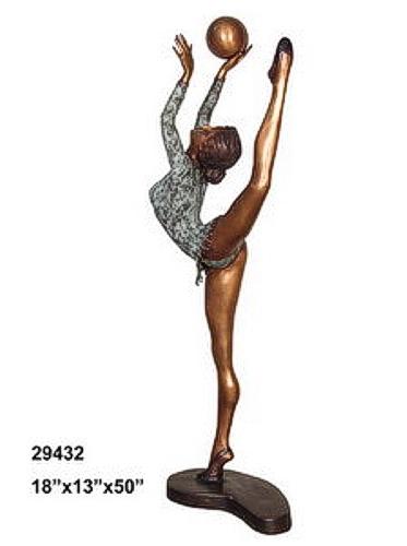 Bronze Gymnast Statue - AF 29432
