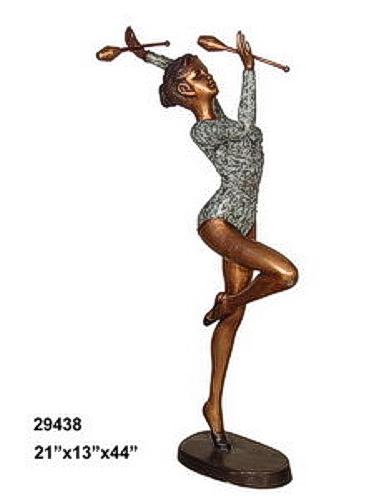 Bronze Gymnast Statue - AF 29438