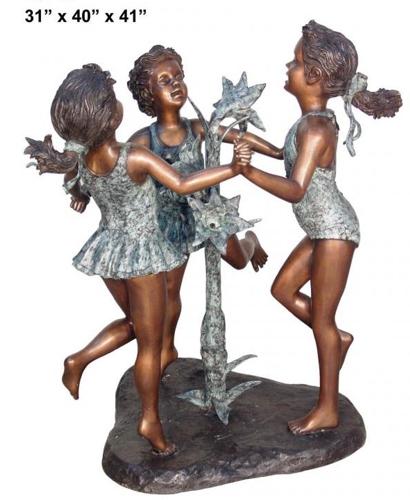 Bronze Girls Fountain - AF 29440