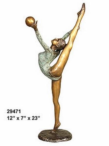 Bronze Gymnast Statue - AF 29471