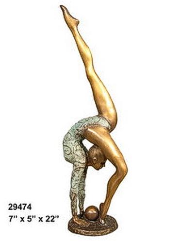 Bronze Gymnast Statue - AF 29474