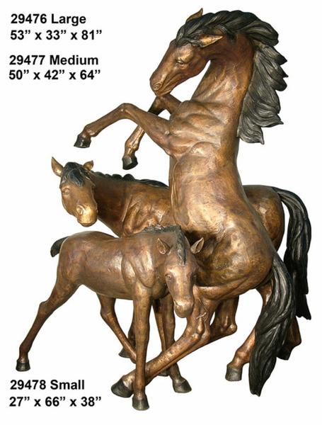 Bronze Horse Statues - AF 29476-78