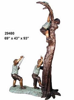 Bronze Children Statues - AF 29480