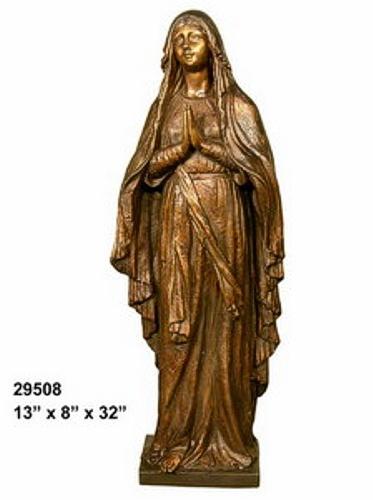 Bronze Virgin Mary Statue - AF 29508