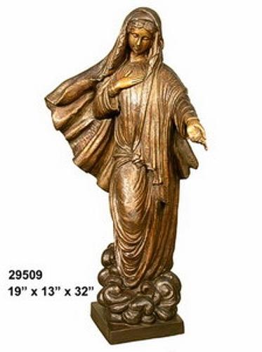 Bronze Virgin Mary Statue - AF 29509
