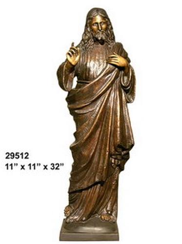 Bronze Jesus Statue - AF 29512