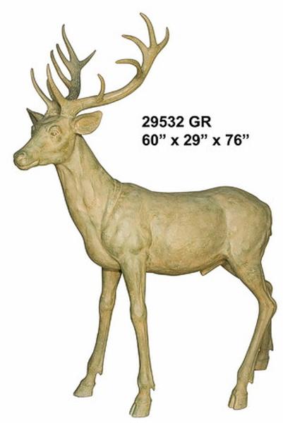 Bronze Deer Buck Statues - AF 29532GR