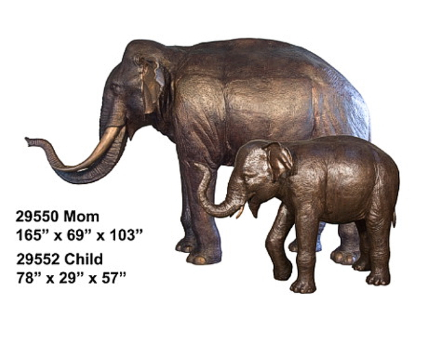 Bronze Elephant Statue - AF 29550