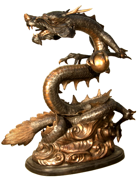 Bronze Dragon Statue or Fountain - AF 31090TT