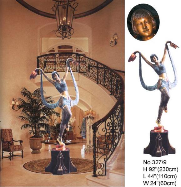 Bronze Deco Lady Statue - BB 327-9