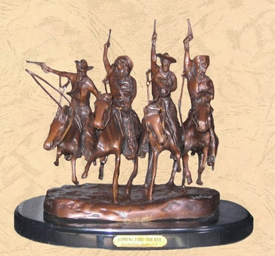 Frederic Remington Coming thru the Rye Statue - BB 354/4