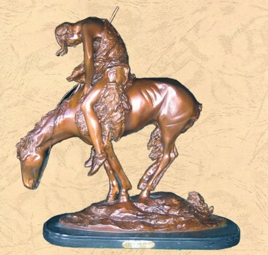 Frederic Remington Bronze End of the Trail Statue - BB 360/9