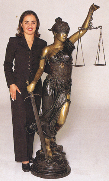 Bronze Blind Justice Statue - ASB 389MO
