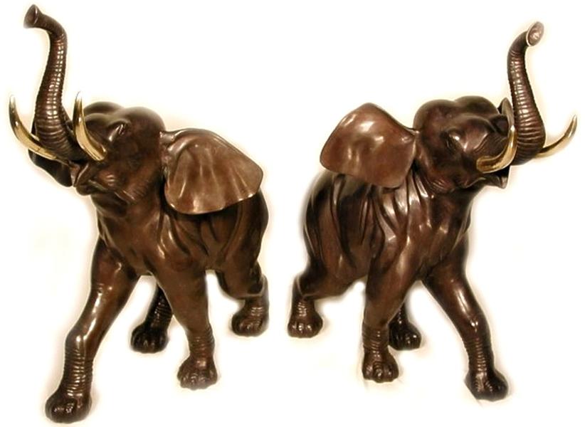 Bronze Elephant Statue - AF 40904