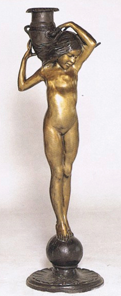 Bronze Lady with Urn Statue - ASB 418