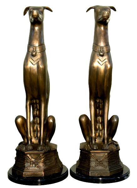 Bronze Dog Statues - AF 43871M LB
