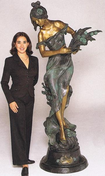Bronze Lady w/Wheat Statue - ASB 468MO