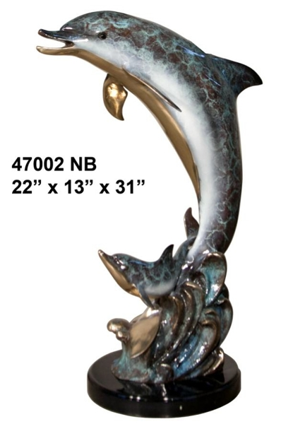 Bronze Dolphin Fountains - AF 47002 NB