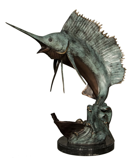 Bronze Sailfish Sculpture - AF 47011M